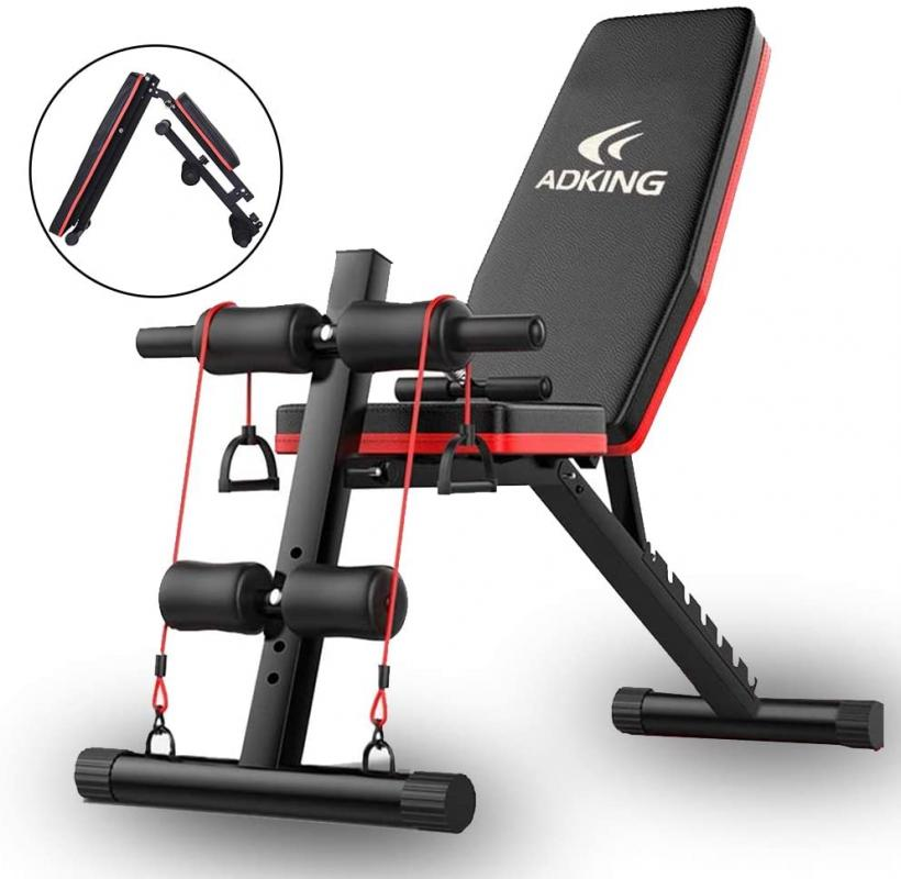 Adjustable Bench,Utility Weight Bench for Full Body Workout- Multi-Purpose Foldable incline/decline Benches