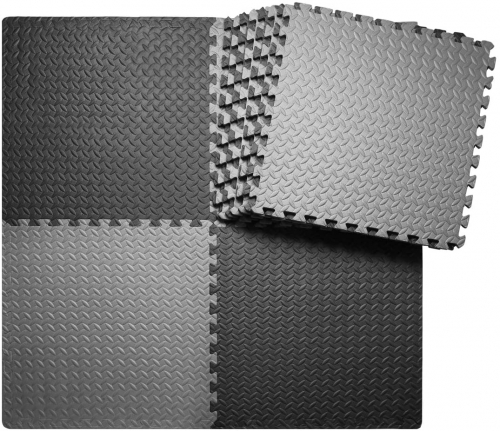 Tiles Gym Mat Exercise Mats Puzzle Foam Mats Gym Flooring Mat Interlocking Foam Mats with EVA Foam Floor Tiles for Gym Equipment Workouts, many flooring combos listed here.